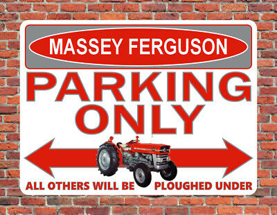 £9.99 • Buy MASSEY FERGUSON PARKING ONLY Metal SIGN Classic MF 135 MF135 Tractor Gift Plaque
