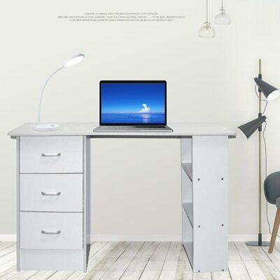 AU115.90 • Buy Office Computer Desk Home Student Study Table Workstation With Drawer Cabinet