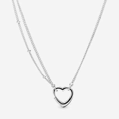 AU69.95 • Buy PANDORA OPEN HEART NECKLACE 925 Sterling Silver #397204 70cm New In Box+Gift Bag
