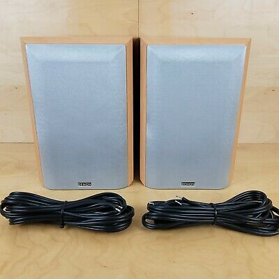 £44.99 • Buy Denon By Mission Sc-m101 Bookshelf Speakers & Cable Excellent Condition