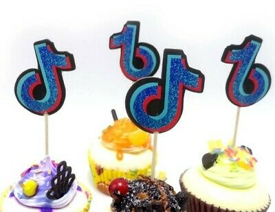 £2.49 • Buy Music Note Tic Tok Cake Decoration X6 Cupcake Topper