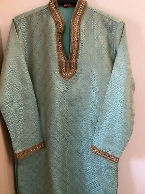 £19.99 • Buy Mens Blue And Green Sherwani With Trousers