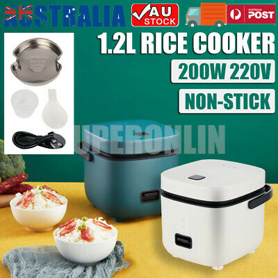 AU47.87 • Buy 1.2L Electric Rice Cooker Portable Mini Small 3 Cups For 1-2 Person Kitchen Home