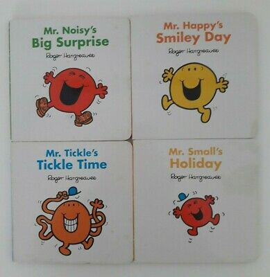 £4.99 • Buy Mr Men Board Book Collection Set Roger Hargreaves Mr Tickle Mr Happy Mr Small