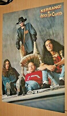 £2.99 • Buy ALICE IN CHAINS Band Large A3 Original Magazine Glossy Rare ART Poster