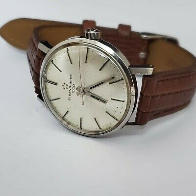 £225 • Buy Gents Eterna Matic, 1000, Silver Dial, Automatic, Original Crown - Used, Working