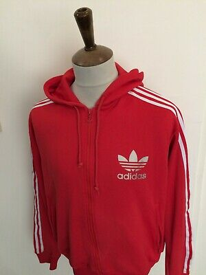 £10.53 • Buy Retro Adidas Hooded Tracksuit Top Size Large Red