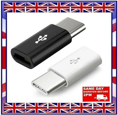 £1.99 • Buy TYPE C MALE TO MICRO USB FEMALE ADAPTER  CHARGER For SAMSUNG XIAOMI HUAWEI