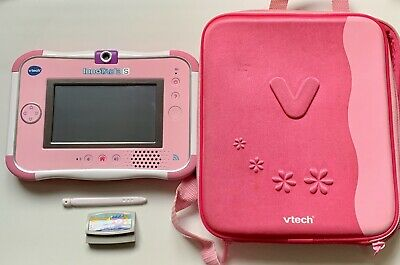 £29.99 • Buy Pink Vtech Innotab 3S & Stylus, Carry Case, Demo Cartridge And Downloaded Games
