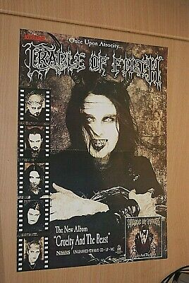 £3.99 • Buy CRADLE OF FILTH Goth Band A3 Size Glossy Magazine Music Promo ART Poster