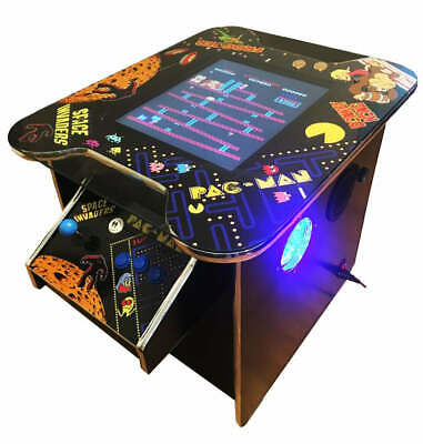 £699 • Buy Arcade Machine Cocktail Table 60 Retro Games 2 Player Gaming Man Cave Pub Shed