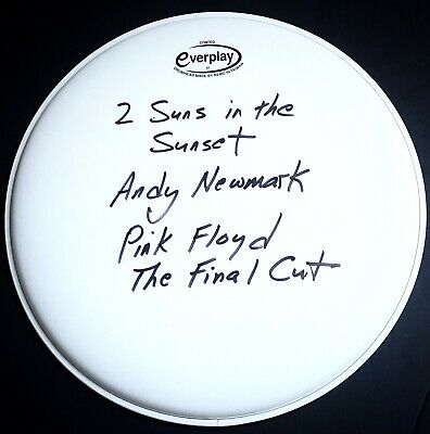 £149.99 • Buy Signed Andy Newmark Pink Floyd The Final Cut Drum Head Rare Roger Waters
