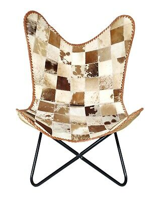 AU143.52 • Buy Indian Genuine Goat Hair Leather Butterfly Relaxing Chair - Office Chair S6-108