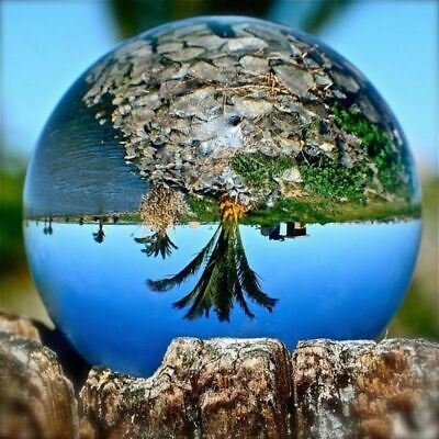 £8.19 • Buy Clear Glass Crystal Healing Ball 8/10cm Photography Lens Ball Sphere Decoration