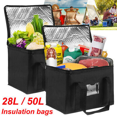£11.99 • Buy 28L/50L Extra Large Cooling Cooler Cool Bag Picing Camping Food Ice Thermal Box