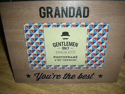 £4.95 • Buy Photo Frame - Grandad You're The Best - Wood & Glass -Takes 4x 6  Christmas Gift