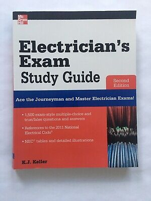 £17.06 • Buy Electrician's Exam Study Guide Book 2nd Edition By McGraw-Hill K.J Keller Test