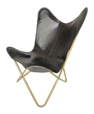 AU131.33 • Buy Leather Relaxing Office Chair – Genuine Handmade Leather Butterfly Chair S6-88