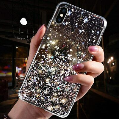 £1.99 • Buy Bling Glitter Case For IPhone 7 8 PLUS X XR 11 12 PRO MAX Clear Soft Phone Cover