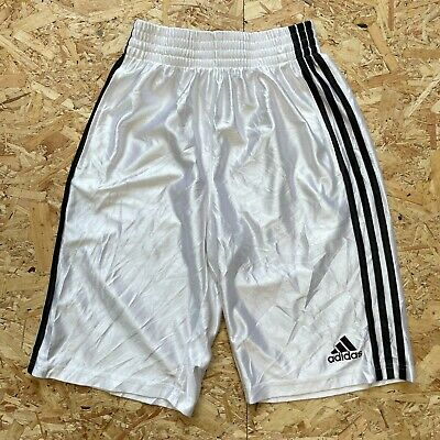 £16.93 • Buy Women's Long White Adidas Basketball Gym Shorts Size S Small Ladies With Pockets