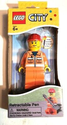 £8 • Buy Lego #LG02202 City Construction Worker Retractable Pen (New & Sealed)