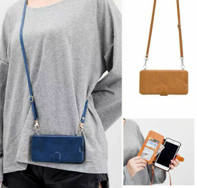 AU15.22 • Buy Magetic Crossbody Case Card Holder Wallet Protective Leather Purse With Strap