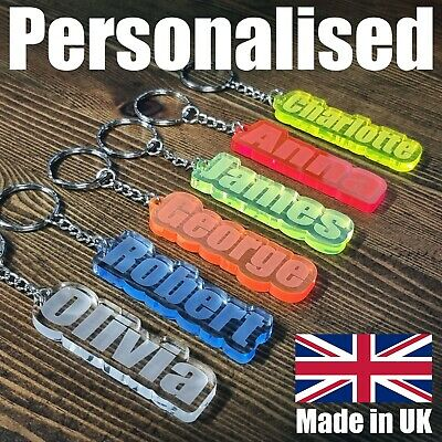 £2.98 • Buy BEST Personalised FROZEN KEYRING KEYCHAIN GIFT ANY NAME SCHOOL  CHRISTMAS BAG