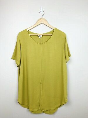 AU35 • Buy Zulu & Zephyr 10 12 Yellow Green Loose Handmade Top Blouse Front And Back Split