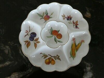 £10 • Buy Royal Worcester Evesham Gold Large Crudities Plate New No Box 1961