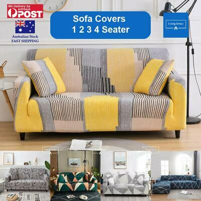 AU23.99 • Buy Sofa Cover 1 2 3 4 Seater Stretch Couch Covers Lounge Slipcover Protector AU
