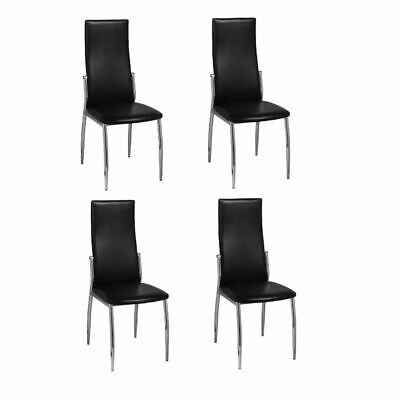 AU251.95 • Buy Dining Chairs 4 Pcs Black Faux Leather