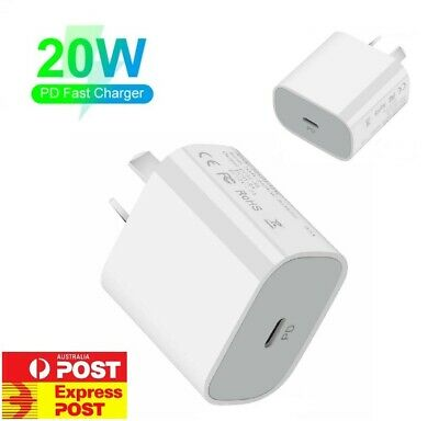 AU13.95 • Buy 20W USB Type-C Wall Adapter Fast Charger PD Power For IPhone 12 11 Pro AU Plug