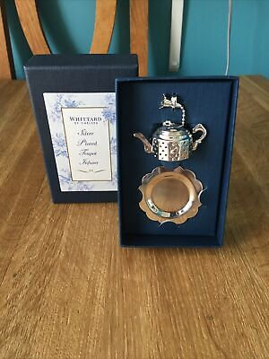 £8.99 • Buy Whittard Of Chelsea Boxed Silver Plated Teapot Infuser And Drip Tray Lovely Gift