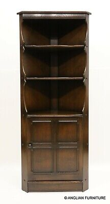 £227 • Buy Genuine Ercol Corner Cabinet With Shelves And Cupboard FREE UK Delivery