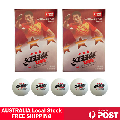 AU16.99 • Buy 12 Pcs DHS 3 Star 40mm Table Tennis Ping Pong Competition Balls White AU Stock