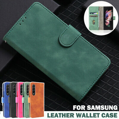 AU16.99 • Buy For Samsung Galaxy Z Fold 3 2 5G Case Magnetic Leather Wallet Flip Stand Cover