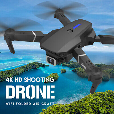 AU60.39 • Buy E525 Quadcopter 4K HD Camera Foldable Drone App Control Optical Flow For Adults