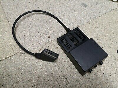 £4 • Buy 3 Way Scart Splitter With 3 Switches