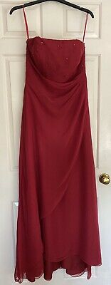 £20 • Buy Womans /Teen Bridesmaid/prom  Red Wine Dress 12