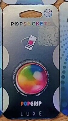 AU14.67 • Buy LUXE Popsockets Popgrip - Swirl Rainbow (804084)- Cell Phone Holder & Stand