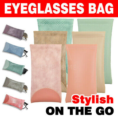 AU6.55 • Buy Mouth Snapped Sunglasses Eyeglass Glasses Case Soft Pouch Bag Pocket Spectacle