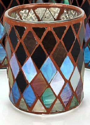 £5.29 • Buy 1 X Official Yankee Candle Autumn Mosaic Glass Votive Holder Free Delivery UK