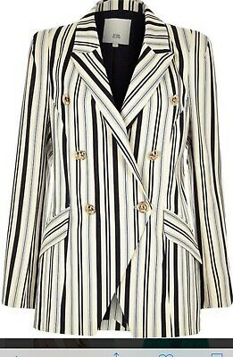 £15 • Buy River Island Nautical Double Breasted Blazer Gold Buttons 10-12