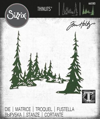 £15.99 • Buy Sizzix Tall Pines Die Set By Tim Holtz  NEW