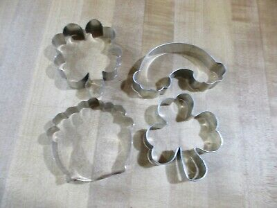 £3.65 • Buy 4 Metal Cookie Cutters. Clover Shamrock And More