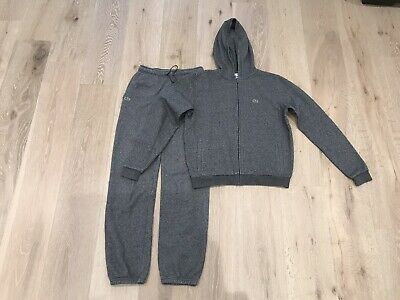 £4.20 • Buy Lacoste Boys Grey Spec Tracksuit - Size 16 Years Old - Used - Genuine