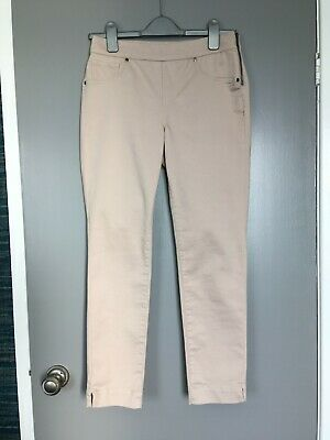 £8 • Buy Womens Wallis Beige/Ivory Cotton Tapered Cropped Ankle-Grazer Trousers NWOT 10