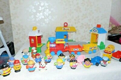 £25 • Buy Vintage Fisher Price Little People Train Set Figures Train Track Sounds Toy