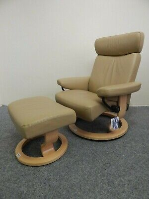 £425 • Buy Ekornes Stressless 'Orion' Leather Recliner And Stool Size Medium (252)