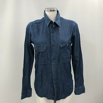£6.99 • Buy Barbour Shirt Womens Size UK S Blue Denim Cotton Button Collared Casual 240865